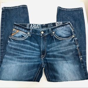 Ariat Men's M4 Low-Rise Bootcut Dark Wash Jeans